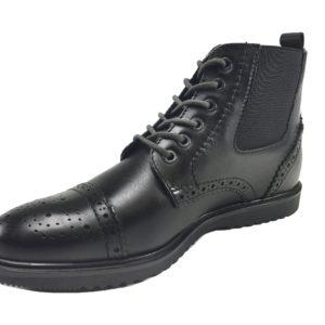 Scarpe uomo scarponcino moda casual   elegante in PELLE fondo gomma 39H05 – Passo  Passo Store 416e0b605d8