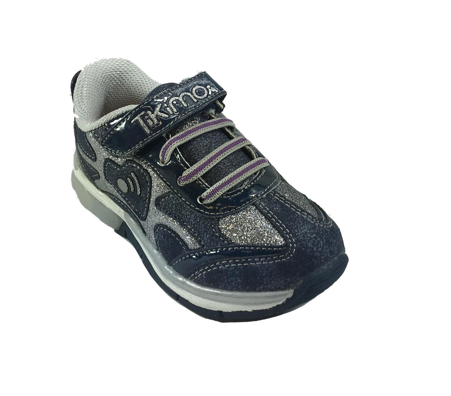 Scarpe Casual BambinaRagazza Sneaker TIKIMO con laccio elastico e luci BU76